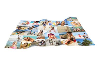 Mantas personalizadas multifoto 95 x 140 cm mediana - Mantas con fotos ...
